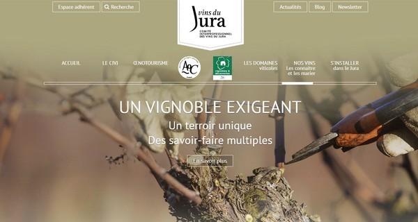 Nouveaux sites pour le Vignoble et les Vins du Jura
