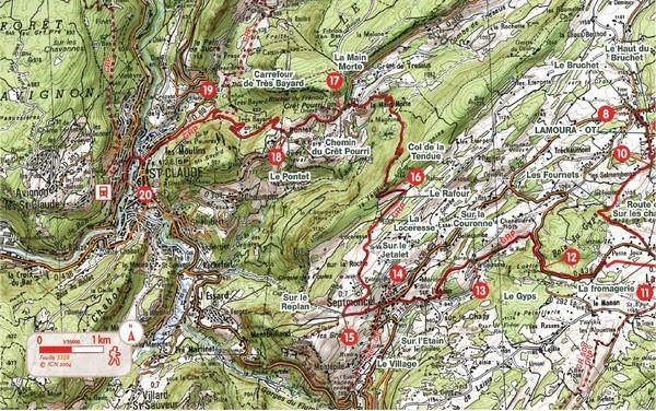 Modifications du tracé de L'Échappée Jurassienne